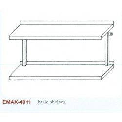 Falipolc 2 szintes sima Emax-4011 KR 1000x300
