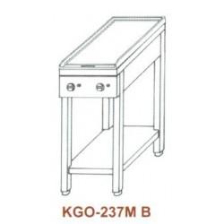 Gáz Főzőasztal, 2 égő, 1 melegítőlappal KGO-237 MB 2
