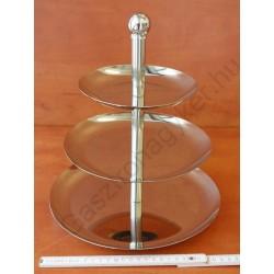 Süteményes állvány 3em. kerek 16-21-26x30cm rm.