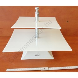 Kínáló állvány 2em. 35-25cmx29 cm szögletes fehér polikarbonát