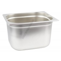 Gn edény 1/2 200 mm (32,5×26,5×20 cm) 12,5 liter rozsdamentes tepsi