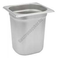 Gn edény 1/6 200 mm (17,6×16,2×20 cm) 3,4 liter rozsdamentes