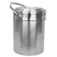 Badella, ételszállító, 20 liter, duplafalú, 30×41 cm, rozsdamentes