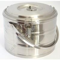 Badella, ételszállító, 10 liter, duplafalú, 30×23 cm, rozsdamentes
