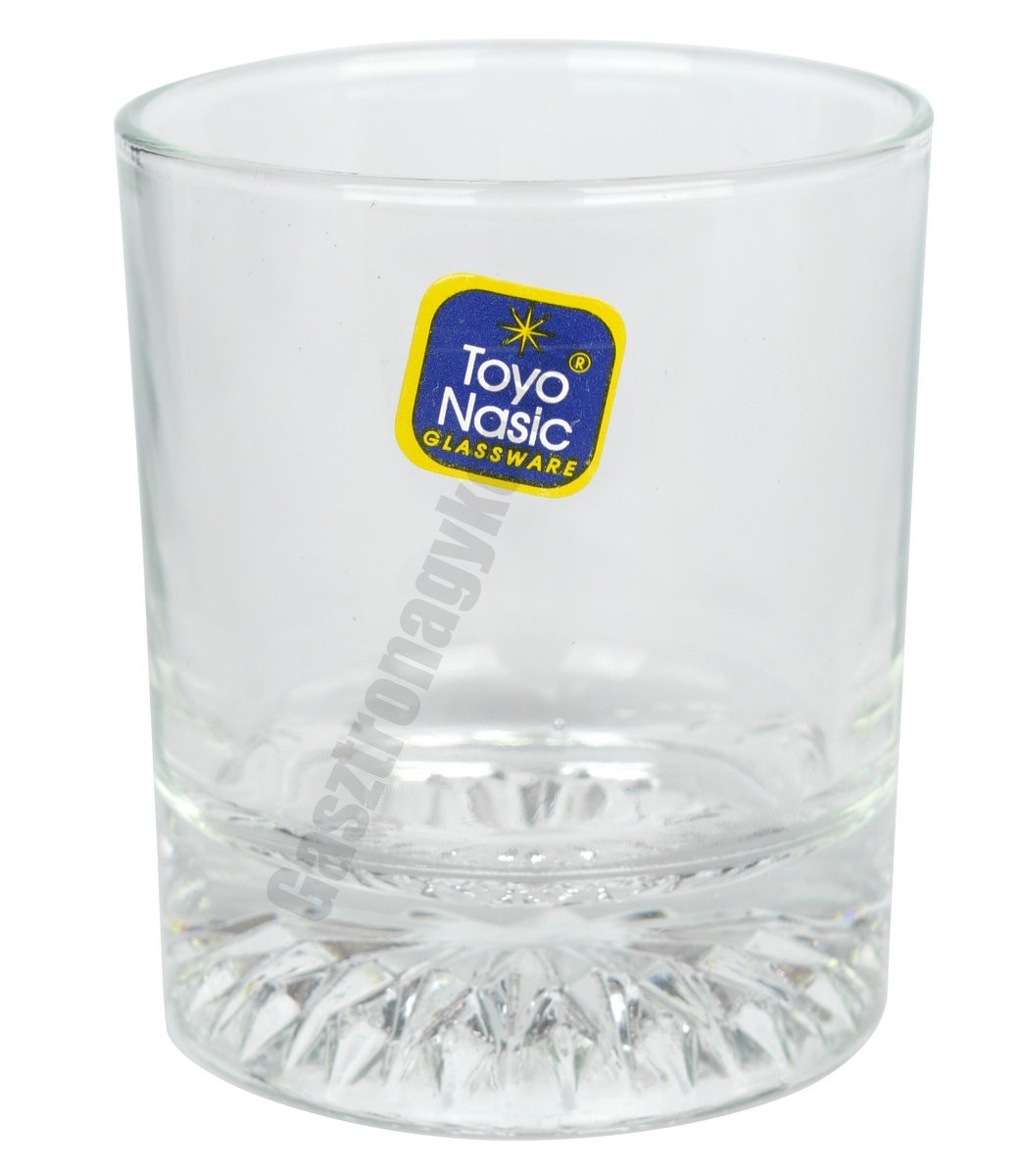 Star vizes-whisky pohár, 210 ml, rozettás, üveg