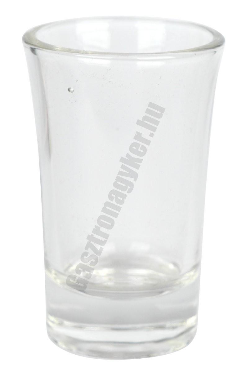 Y pálinkás pohár 40 ml, üveg