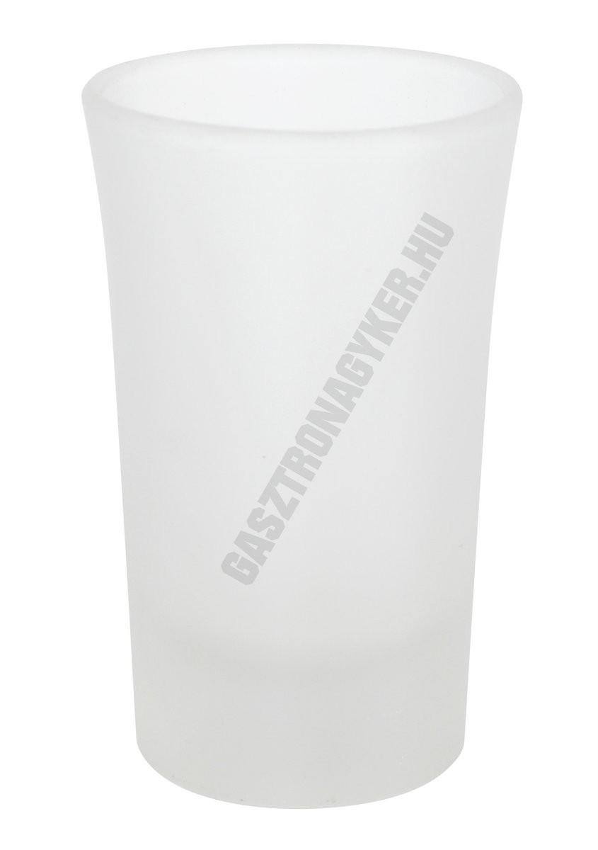 Pálinkás pohár 40 ml, homokfúvott, üveg