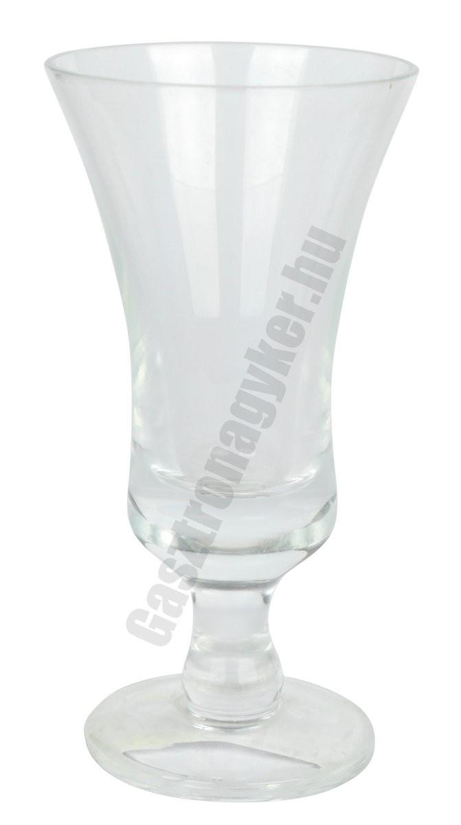 Jager-pálinkás pohár, 50 ml, üveg
