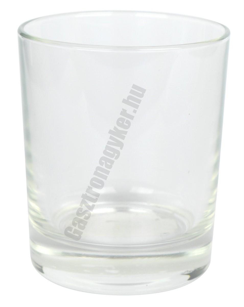Gladky vizes-whisky pohár, 250 ml, üveg