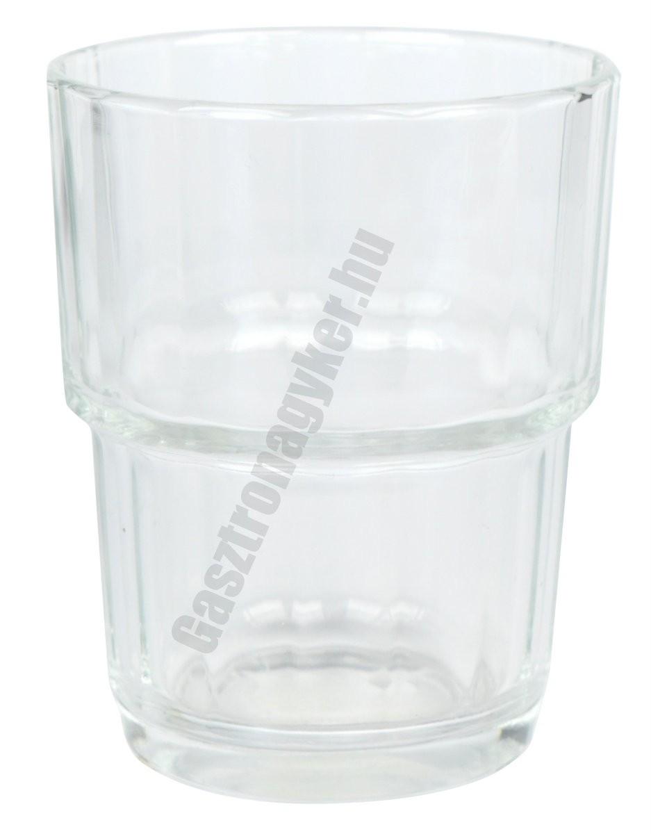 Norvege vizespohár 250 ml sorolható, üveg, szilánkmentes törés