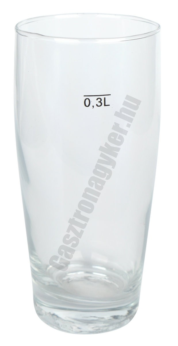 Willy söröspohár 300 ml, jeles, üveg