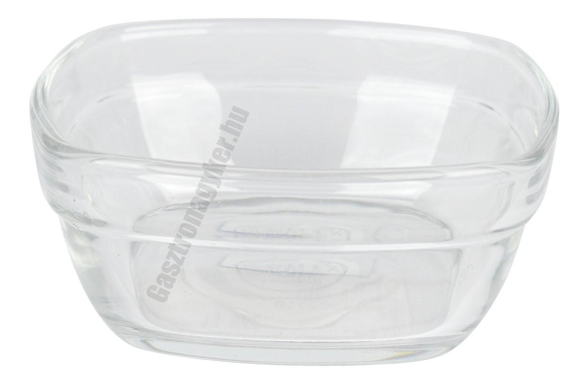 LYS tálka 150 ml 9 cm sorolható szögletes üveg