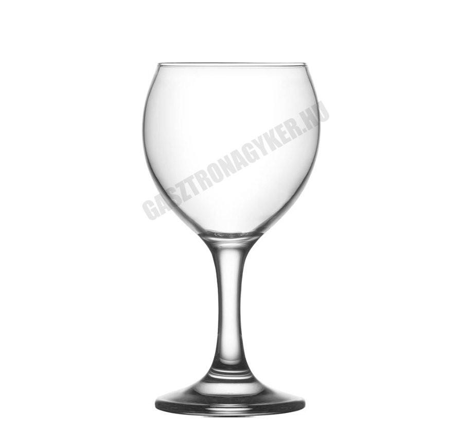 Misket vörösboros pohár, 210 ml, üveg