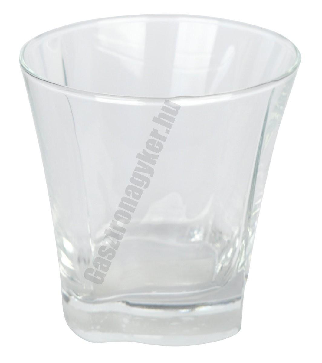Truva vizes-whisky pohár, 280 ml, üveg