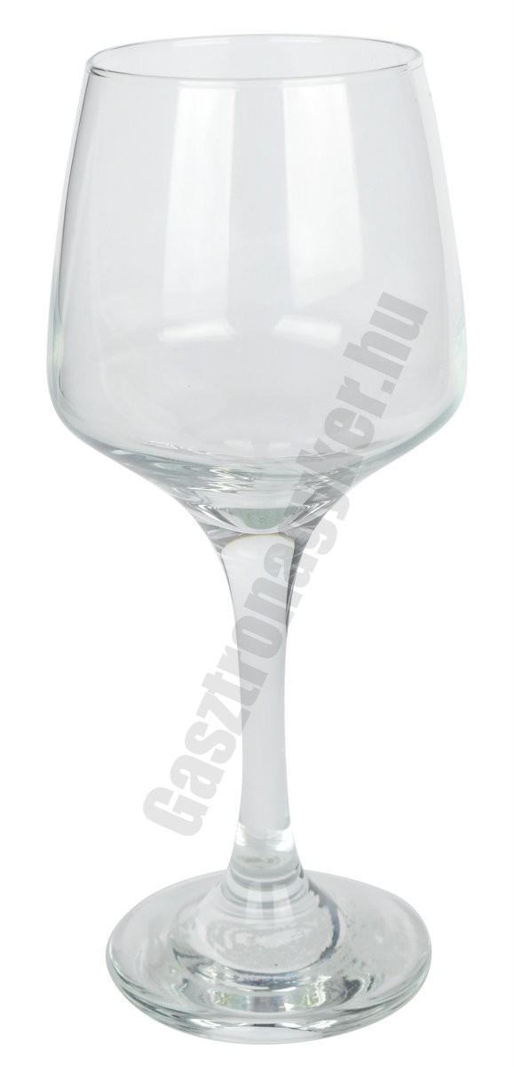 Lal borospohár, 250 ml, üveg