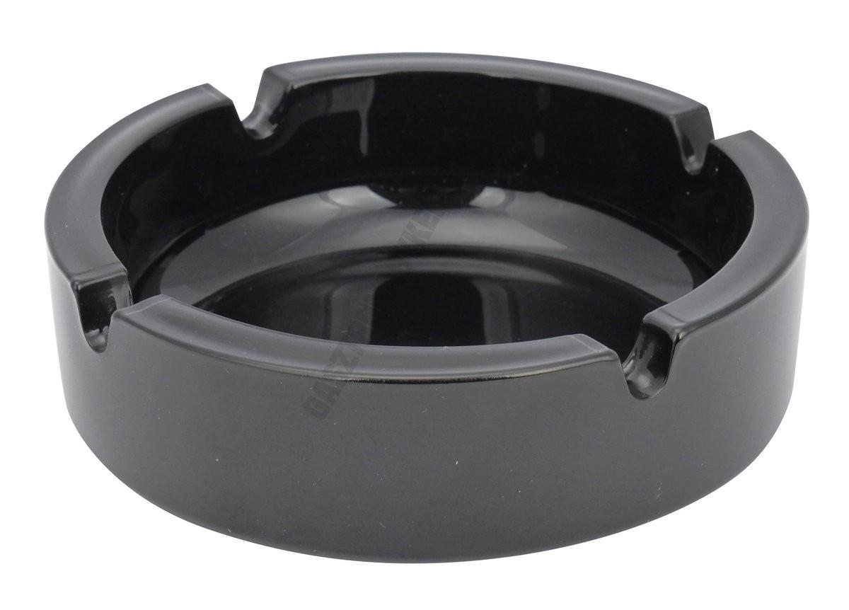 Hamutartó 10,5 cm fekete üveg