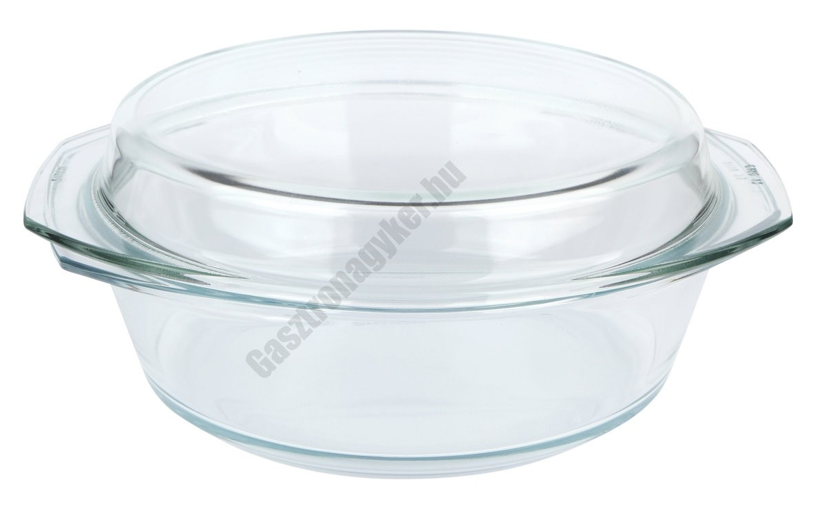 Simax Hőálló jénai kenyérsütő (kacsasütő) tál fedővel 8 liter