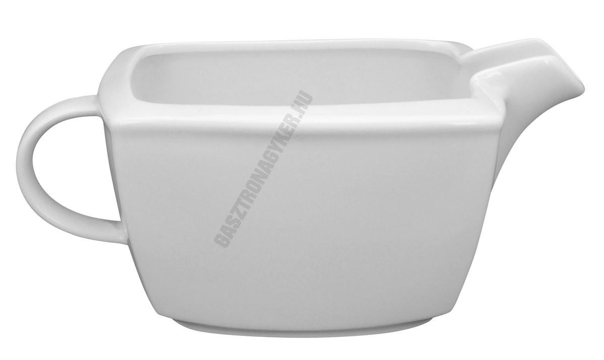 Victoria szószostálka 0,4 liter szögletes, porcelán