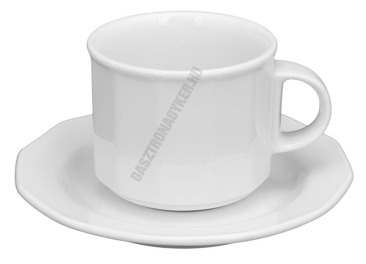 Mercury cappuccino csésze+alj 14 cm 1,5 dl, porcelán