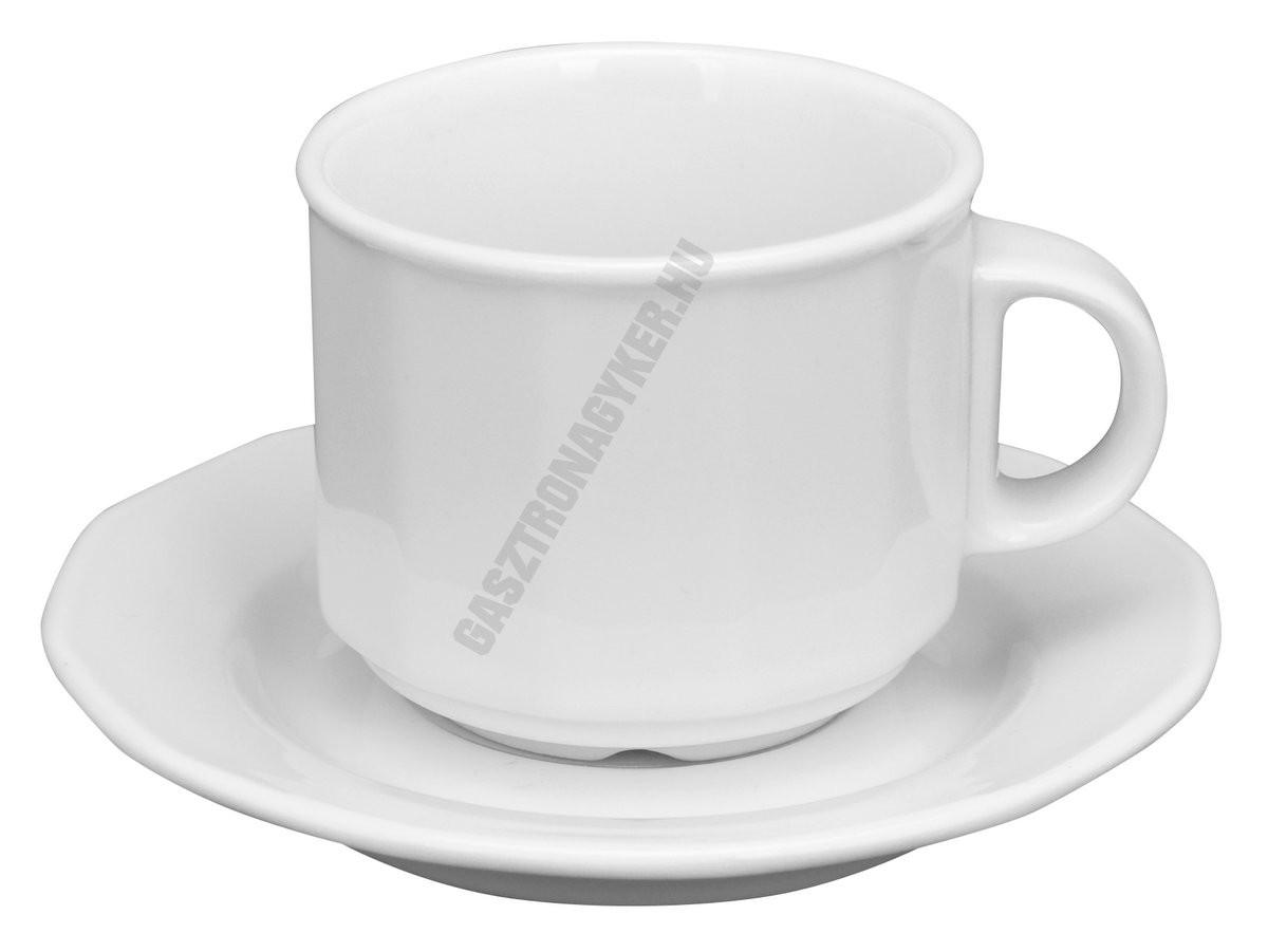 Mercury mokkáscsésze+alj 11 cm 0,10 liter, porcelán