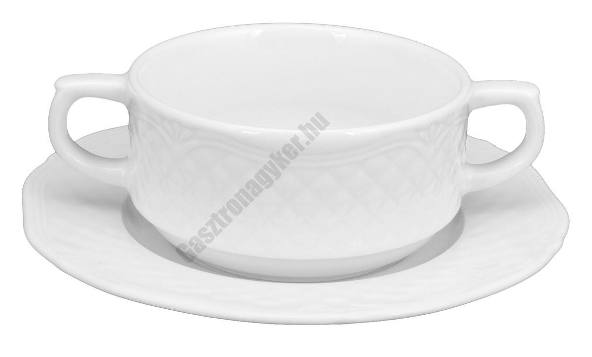 Afrodyta levesescsésze+alj 0,3 liter porcelán