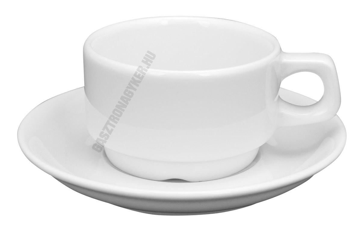 Kaszub kávéscsésze + alj 0,09 liter, porcelán