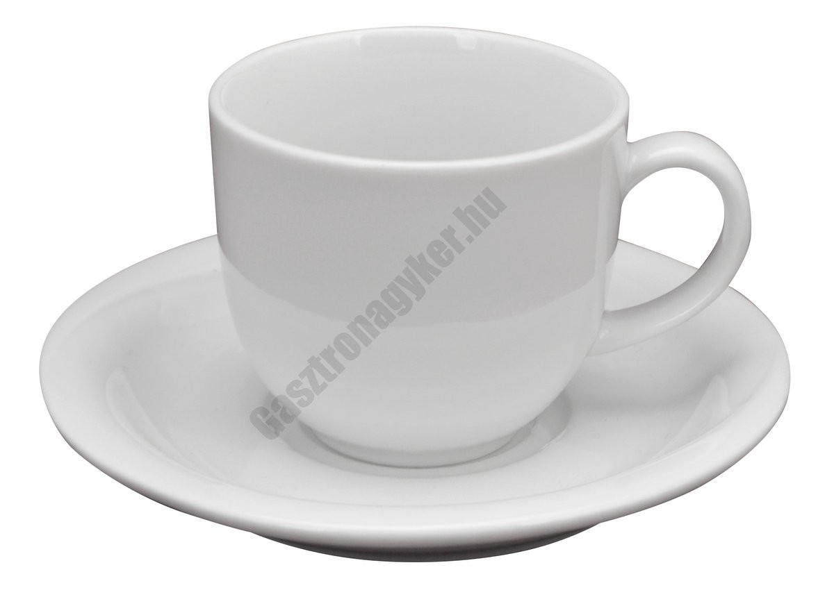 X-Tanbul kávéscsésze+alj, 0,1 l, fehér porcelán