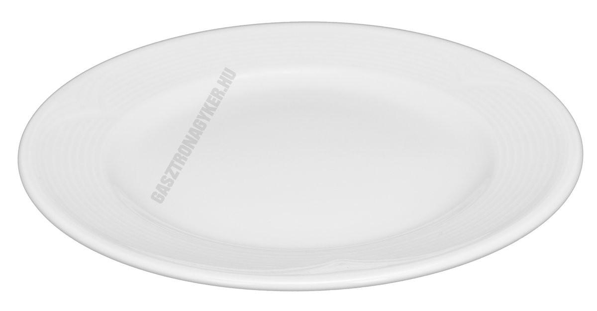 Saturn lapostányér 20 cm, fehér porcelán