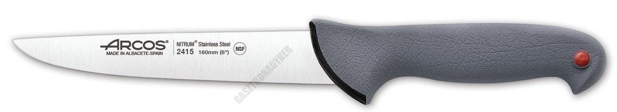 Arcos Colour Prof konyhakés, 16 cm penge, csúszásmentes gumírozott markolat, színkódos