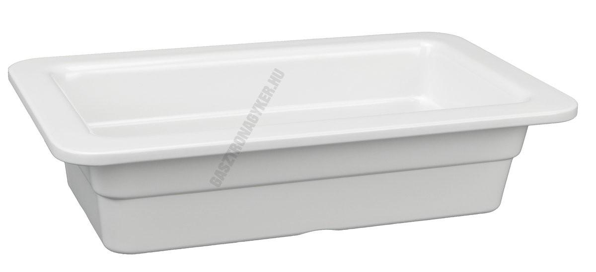 Gn edény 1/4 65 mm (26,5×16,2×6,5 cm) fehér melamin