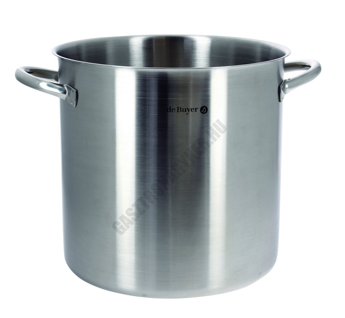 Fazék, 100 liter, de Buyer, 50 cm átmérő, 18/10 rozsdamentes indukciós