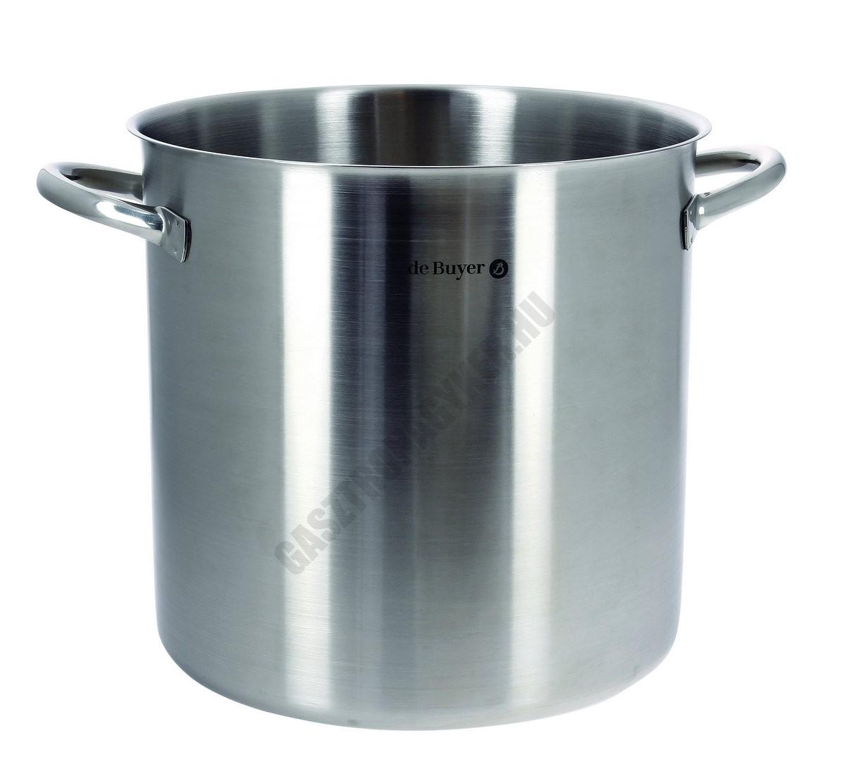 Fazék, 36 liter, de Buyer, 36 cm átmérő, 18/10 rozsdamentes  indukciós