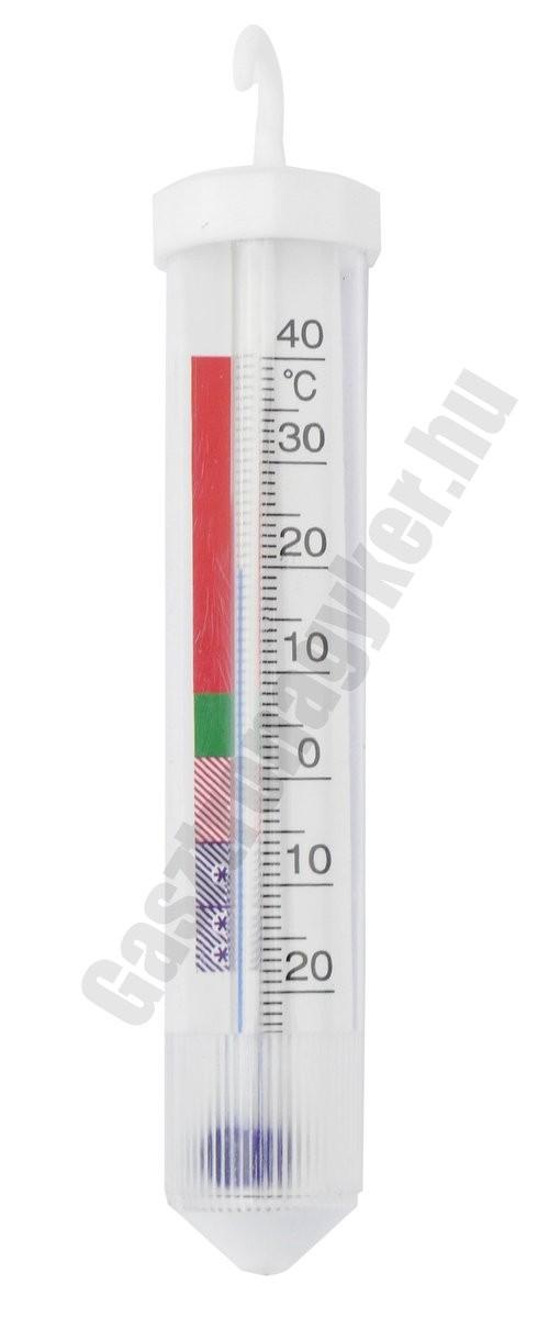 Hűtőhőmérő, alkoholos, 11,5 cm