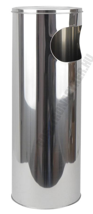 Álló hamuzó hulladéktartóval 57,8 cm, rozsdamentes