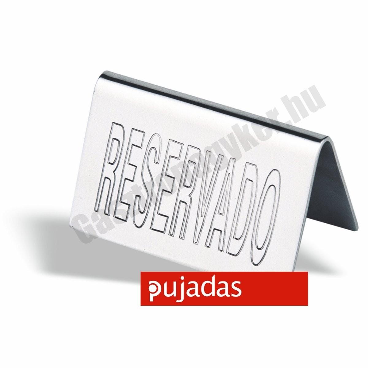 Asztali foglalt tábla 'Reserved' 10×5 cm rozsdamentes