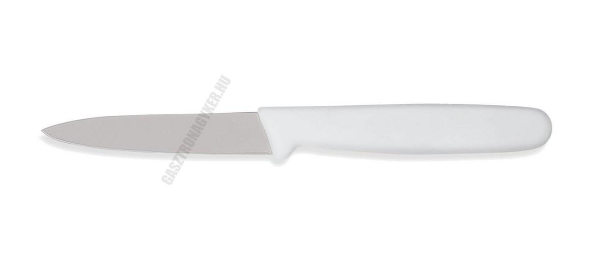 Hámozókés, 8 cm, fehér nyéllel
