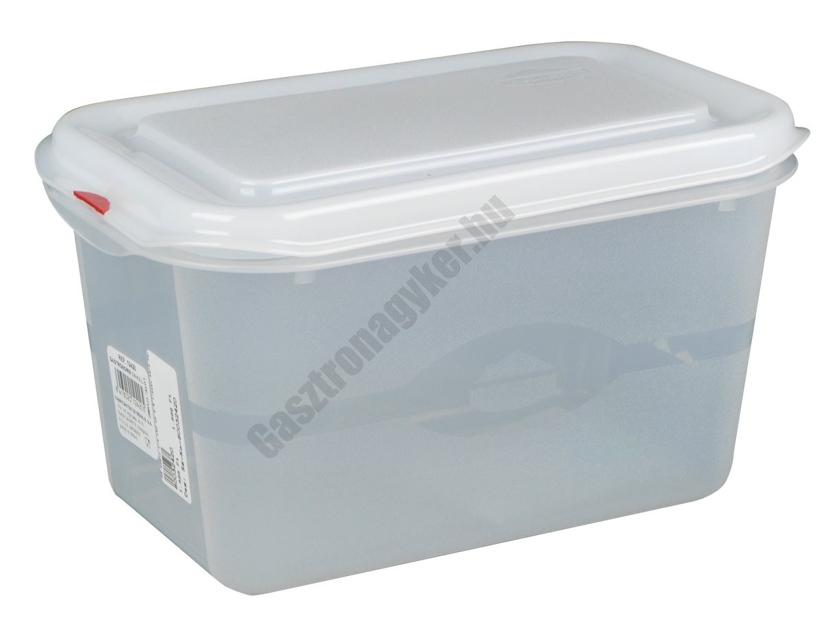 GN edény 1/4 150 mm (16,2×26,5×15 cm) 4,3 liter ételtároló légmentesen záró fedővel