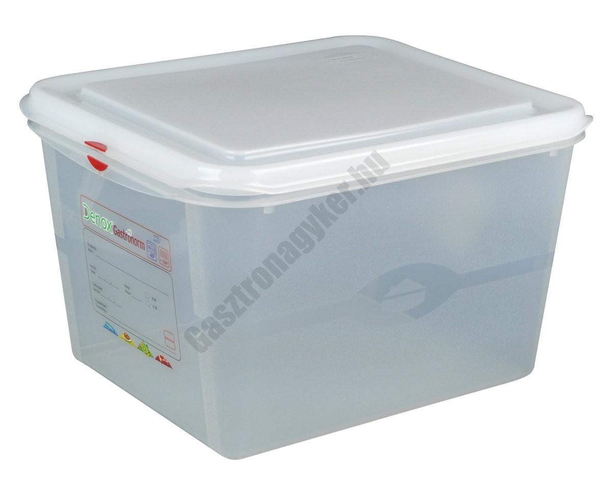 GN edény 1/2 200 mm (26,5×32,5×20 cm) 12,5 liter ételtároló légmentesen záró fedővel