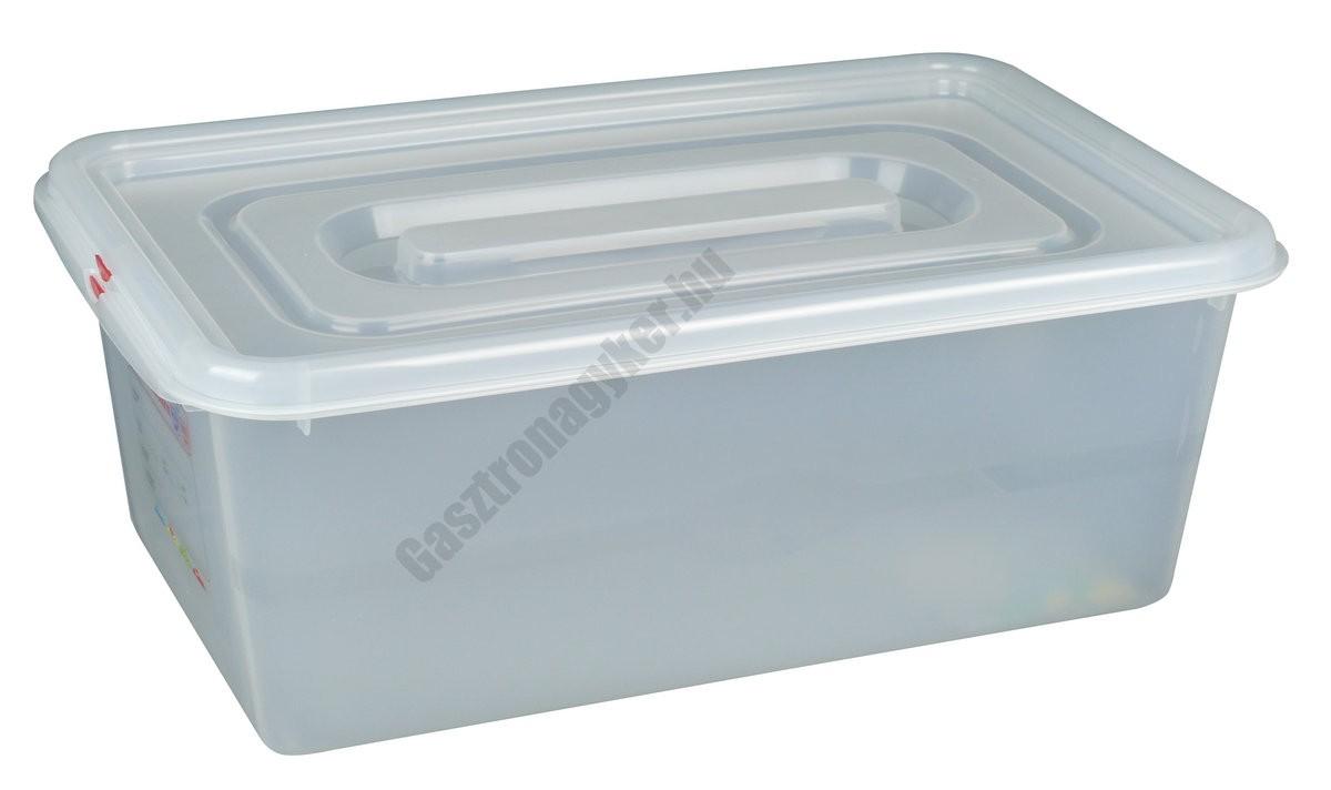 GN edény 1/1 200 mm (32,5×53×20 cm) 28 liter ételtároló légmentesen záró fedővel