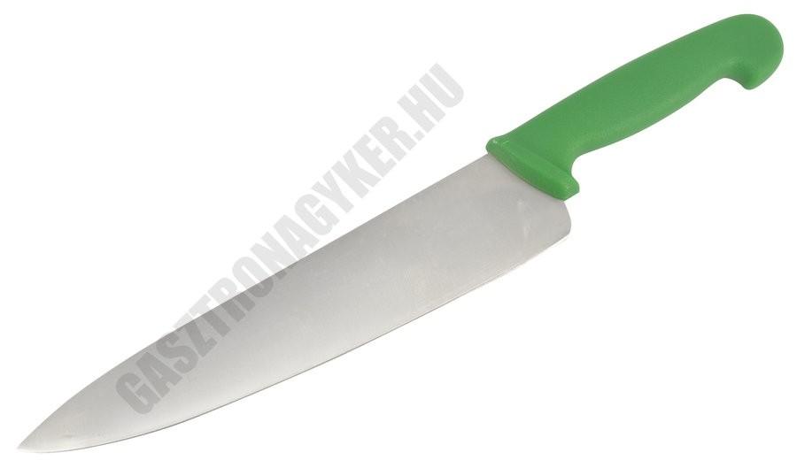 Szakácskés, 25 cm penge, zöld nyéllel