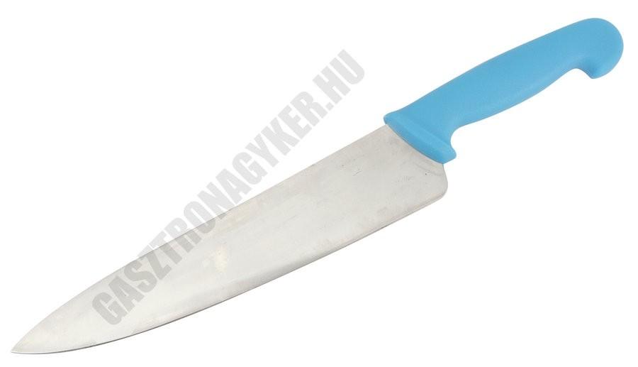 Szakácskés, 25 cm penge, kék nyéllel