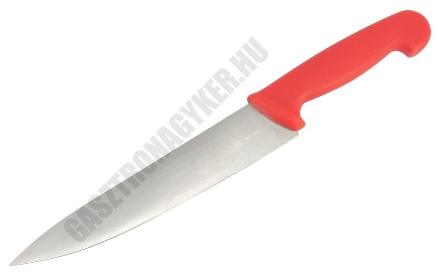 Szakácskés, 21 cm penge, piros nyéllel
