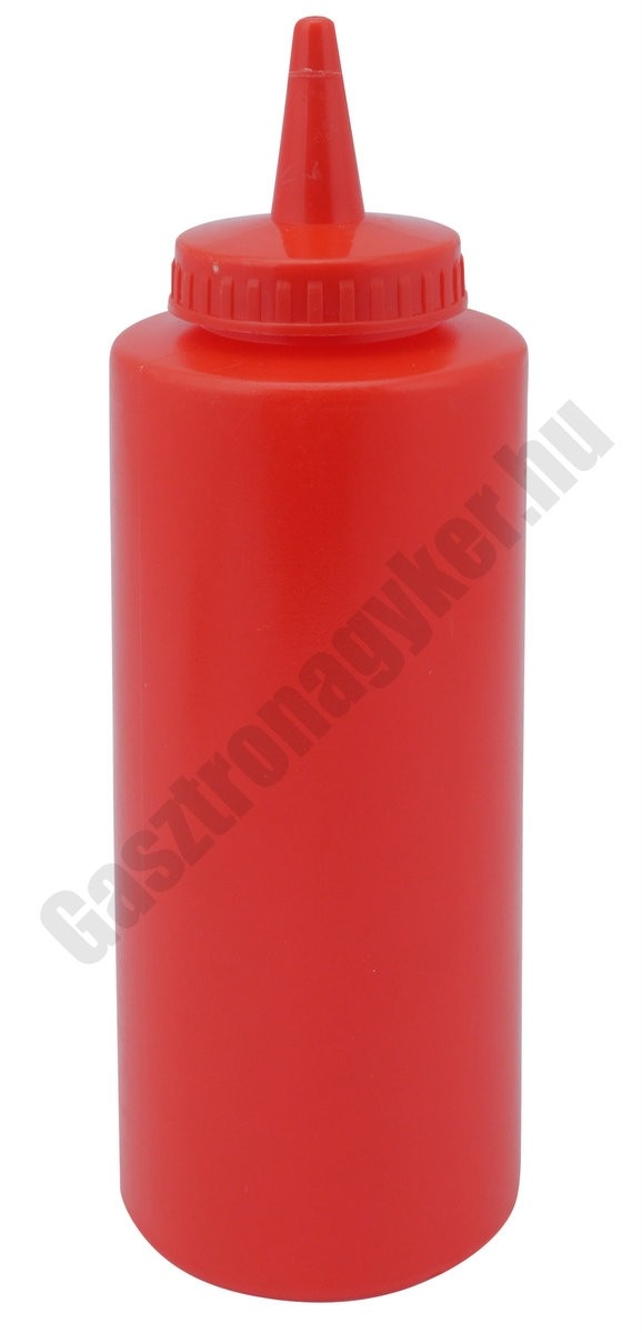 Szósznyomó palack 3,5 dl piros műanyag