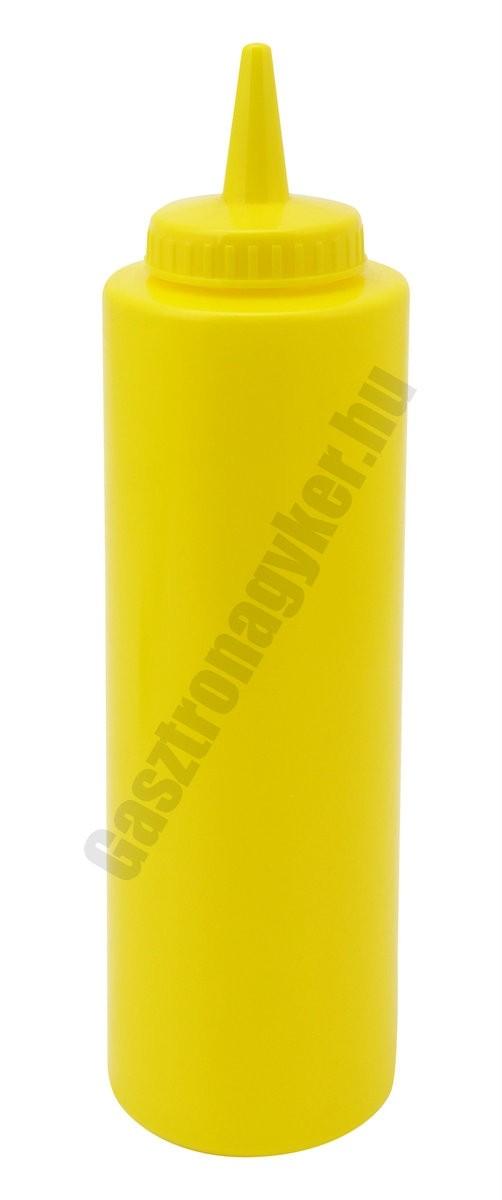 Szósznyomó palack 3,5 dl sárga műanyag