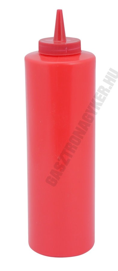 Szósznyomó palack 7 dl piros műanyag