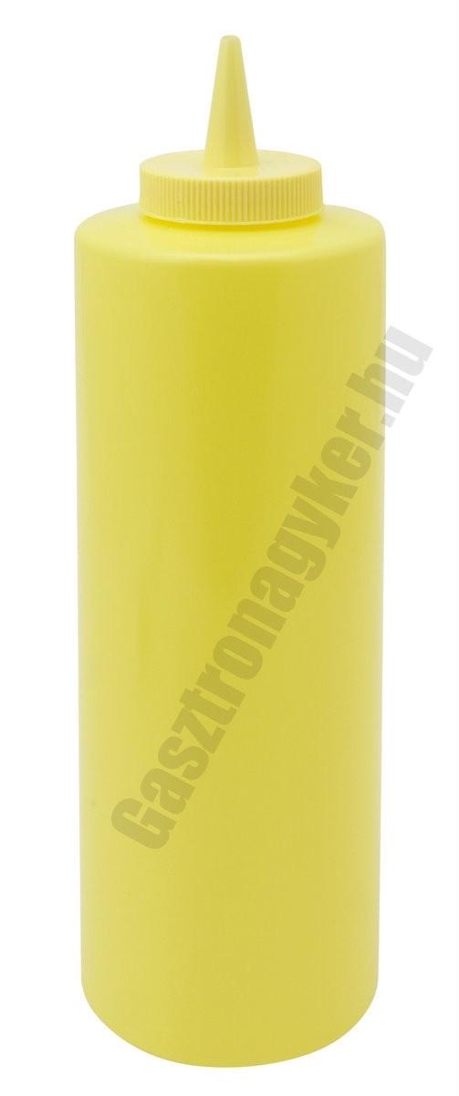 Szósznyomó palack 7 dl sárga műanyag