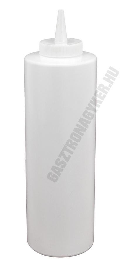 Szósznyomó palack 7 dl fehér műanyag