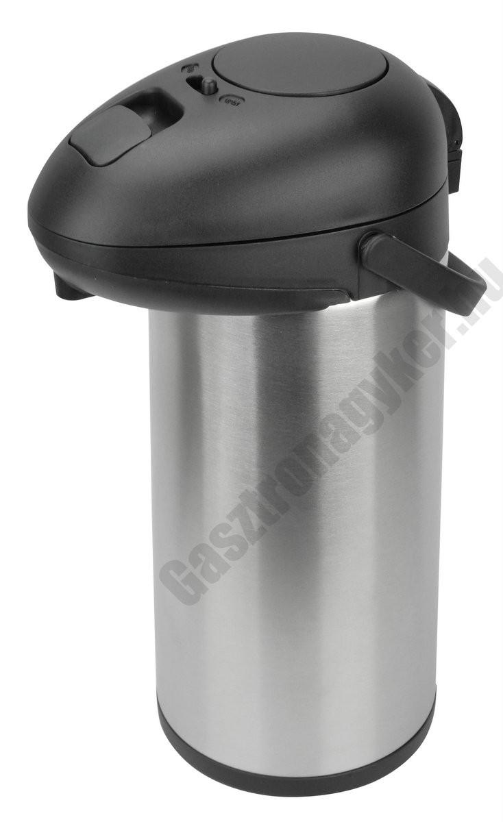 Italtermosz pumpás, 17×42 cm, 5 literes rozsdamentes