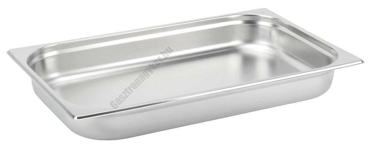 Gn edény 1/1 65 mm (32,5×53×6,5 cm) 9 liter rozsdamentes tepsi