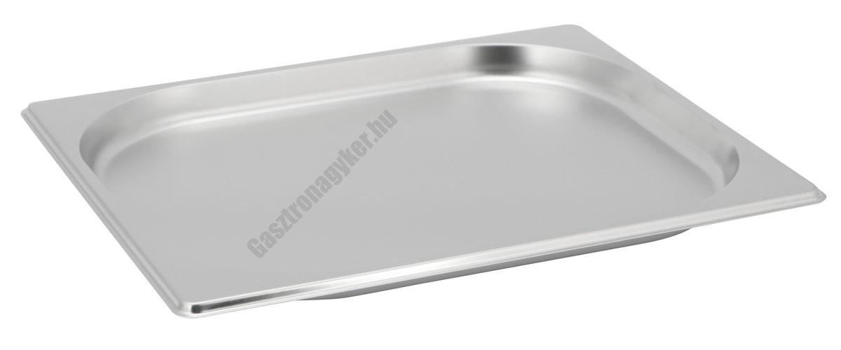 Gn edény 1/2 20 mm (32,5×26,5×2 cm) 1,25 liter rozsdamentes tepsi